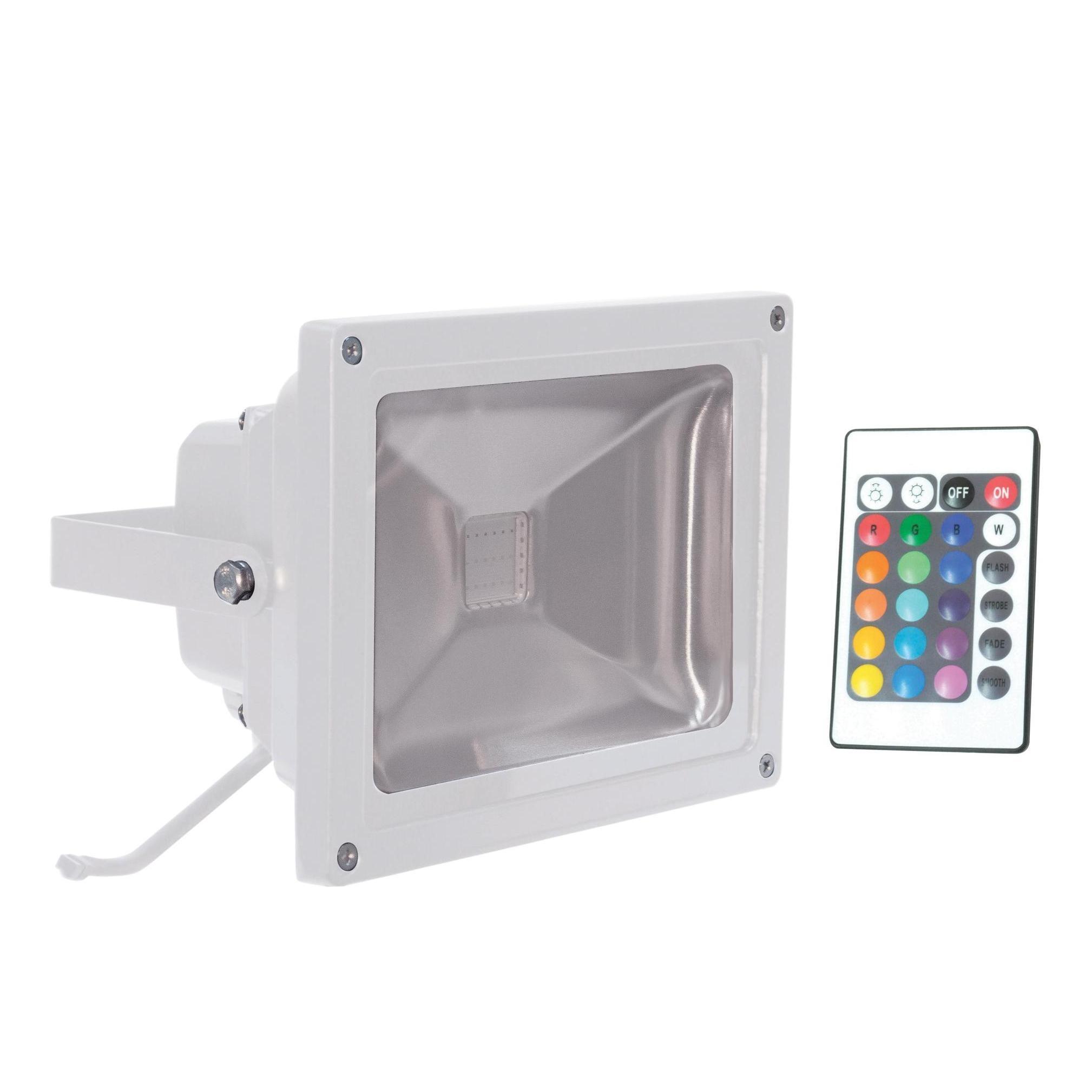2 X Outdoor 20w RGB Coloured LED Flood Lights