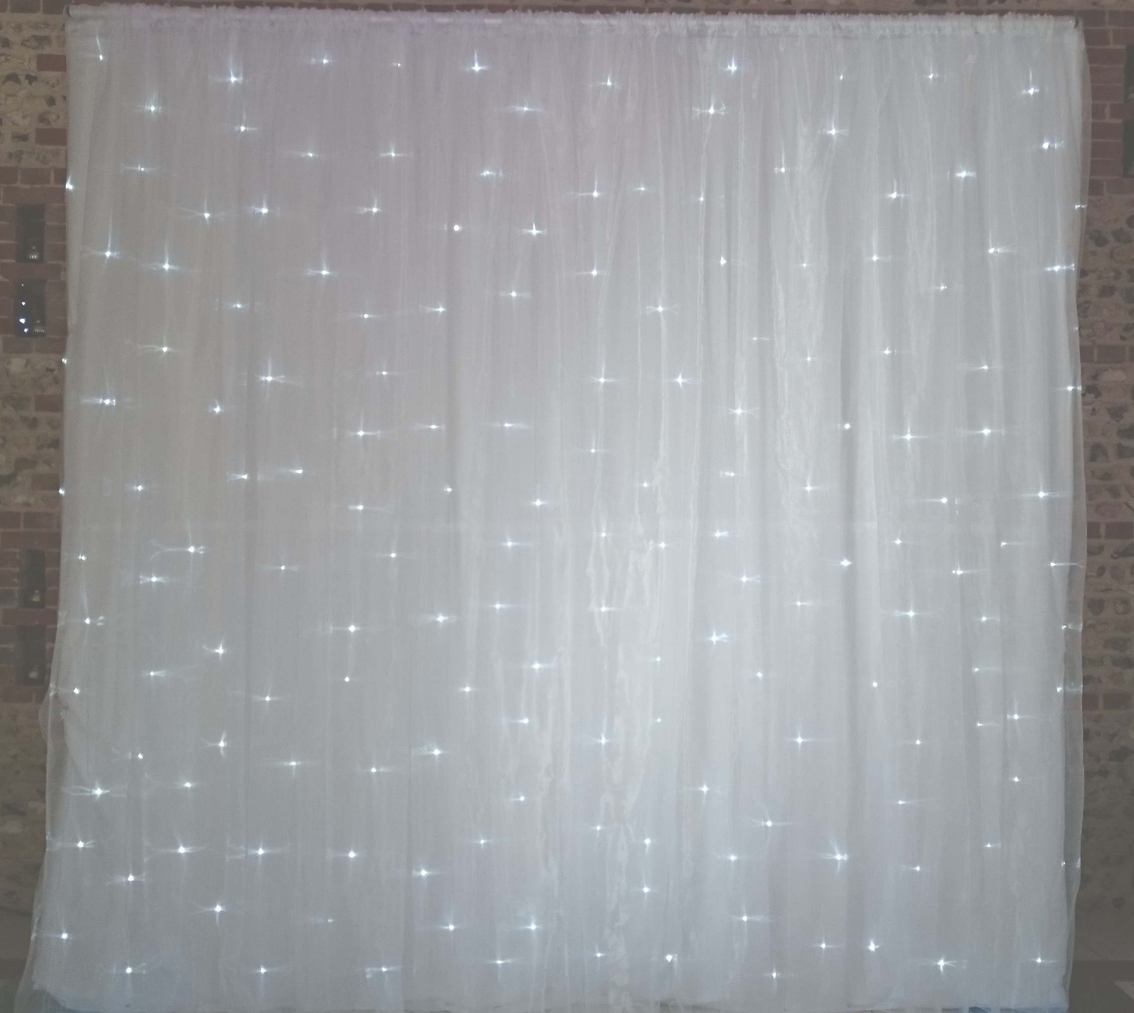 3m Premium Twinkle Backdrops Lizard Audio Ltd Equipment Hire