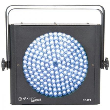 qtx sp w1 slimline white spotstrobe led par64 can hire