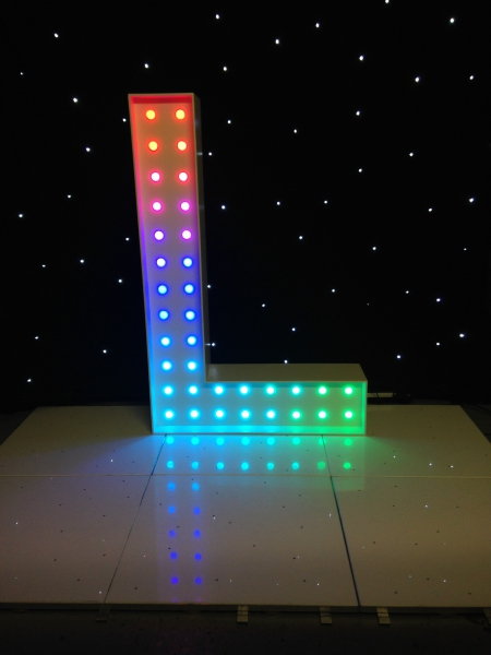 Colour_changing_LOVE_letters_wedding_hire