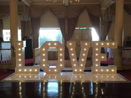 5ft vintage love letters hire the queens hotel southsea portsmouth hampshire