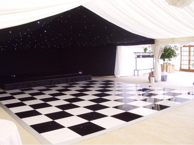 36ft X 36ft Black Amp White Dance Floor Lizard Audio Ltd