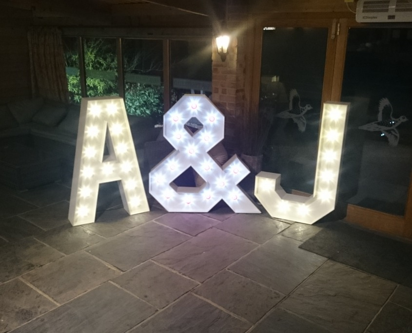 Light Up Love Letters Lizard Audio Ltd Equipment Hire